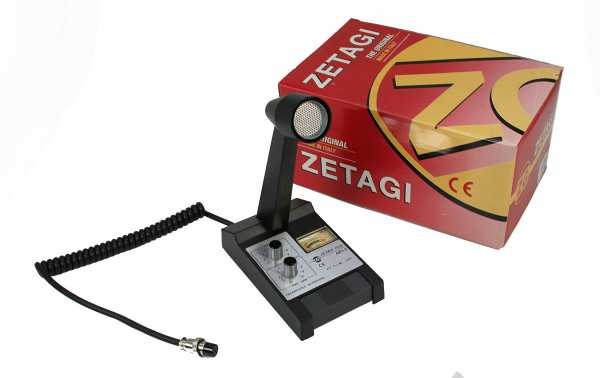 MBPLUS5A6M ZETAGI microfone de mesa PRESIDENT, ALAN48, ALAN 78